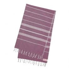 "Hammam Beach Bath Towel Fouta Purple  Large (170 cm x 100 cm / 77"" x 39.3"")"